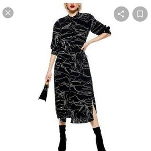 NWT Top shop long lengthen sleeve dress size 10